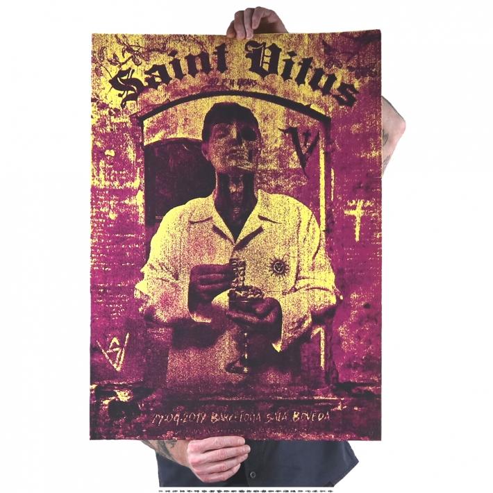 Gig Poster, Barcelona, Saint Vitus, Doom,Sala Boveda,