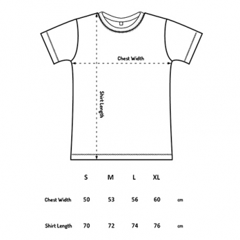 Continental clothing size chart, fair wear.
