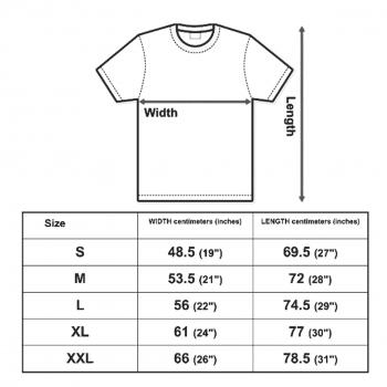 Continental clothing size chart, fair wear.